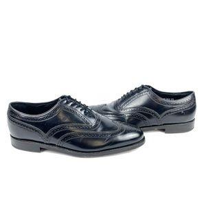 Florsheim Brogue Oxford Dress Shoes Black Wingtip